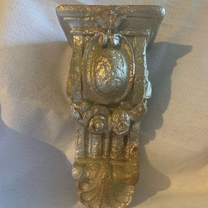 Decorative wall sconce shelf